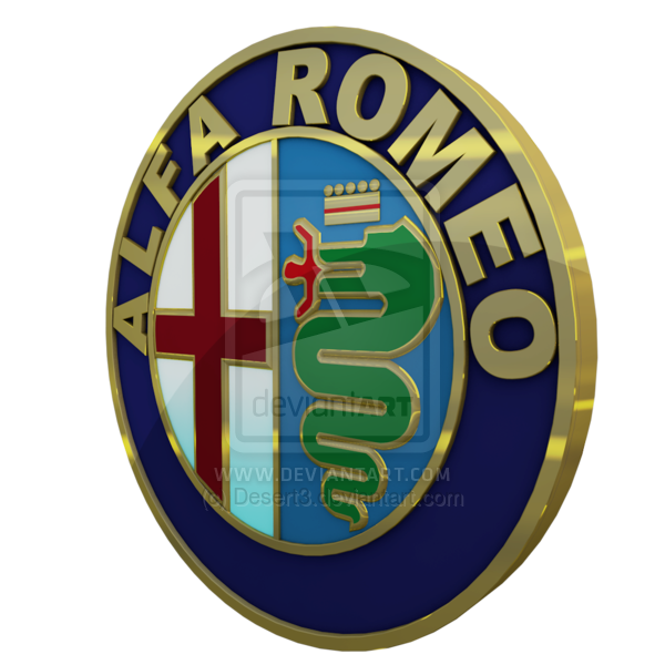 Alfa Romeo Logo 3D Wallpaper
