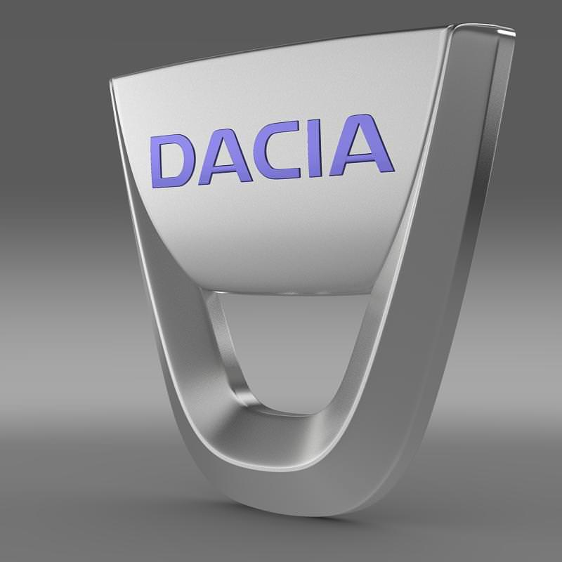 Dacia Logo 3D Wallpaper