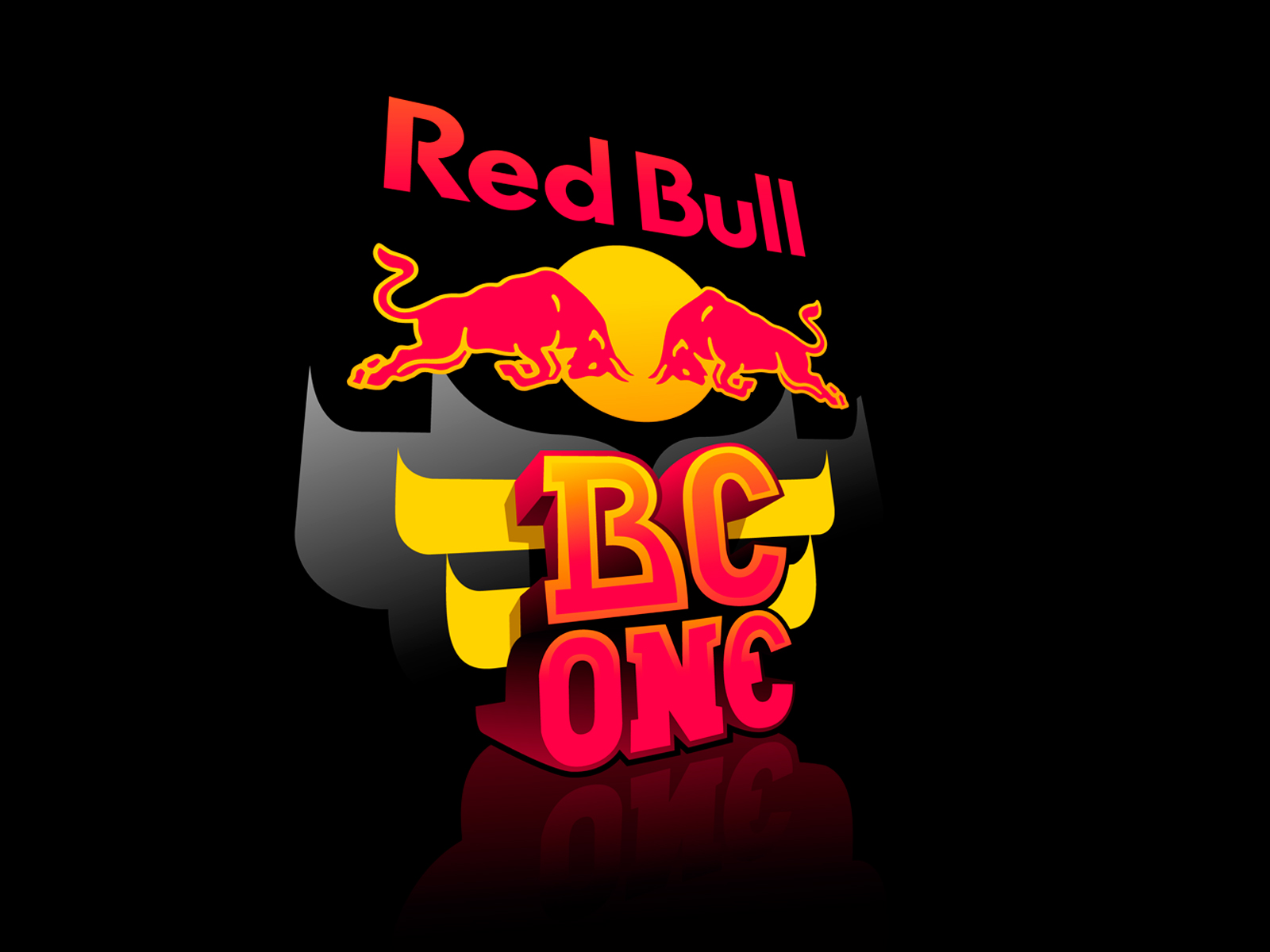 Red Bull Logo 3D Wallpaper