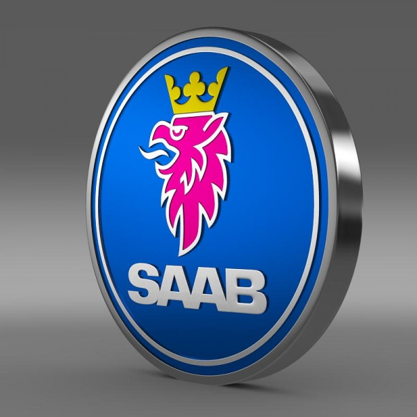 Saab Logo 3D Wallpaper
