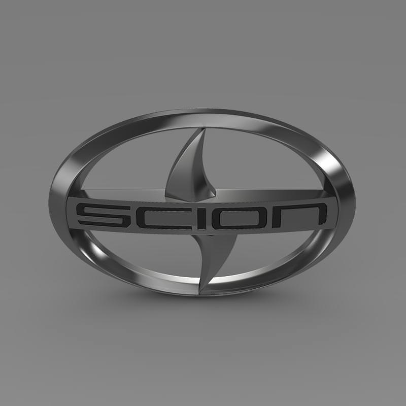 Scion logo 3D Wallpaper