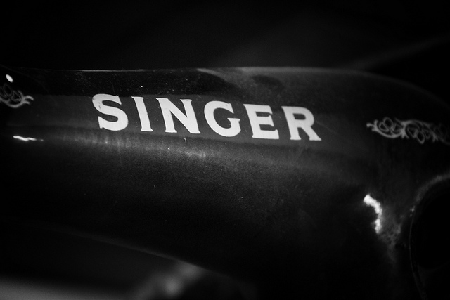 Singer logo 3D Wallpaper