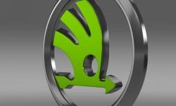 Skoda logo 3D