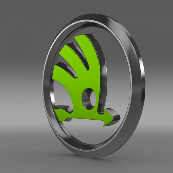 Skoda logo 3D Wallpaper