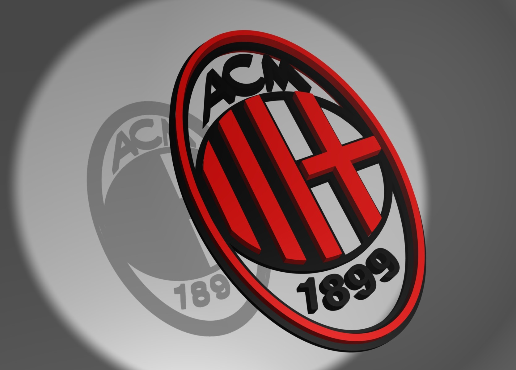 AC Milan Logo 3D Wallpaper