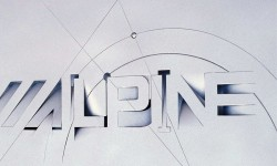 Alpine graphic design