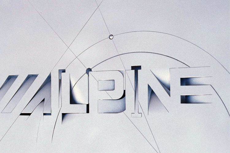 Alpine graphic design Wallpaper