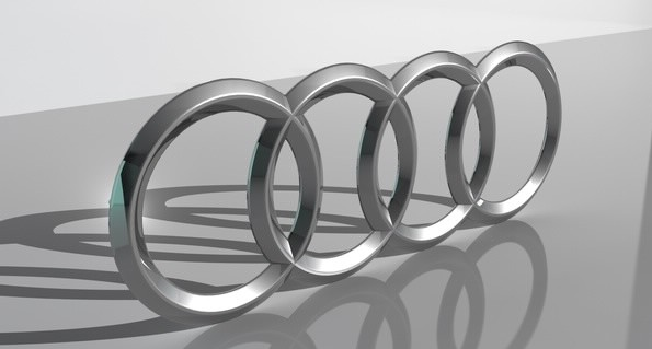 Audi logo 3D Wallpaper