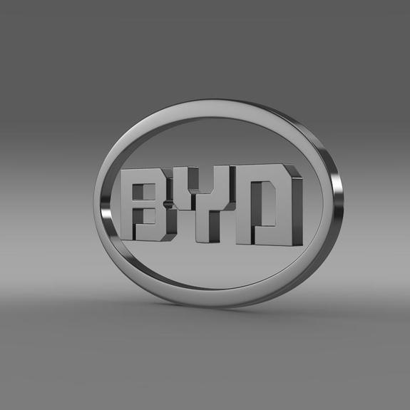 BYD Logo 3D Wallpaper