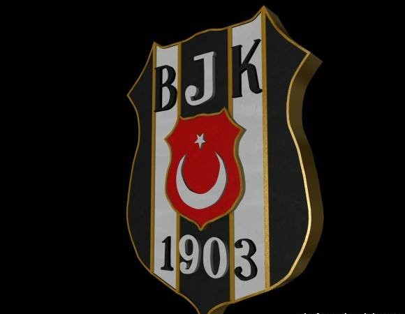 Besiktas JK Logo 3D Wallpaper