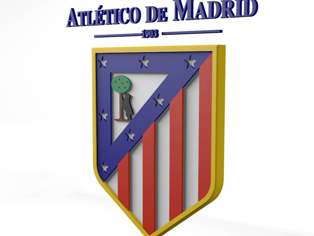 Club Atl 233 Tico De Madrid Logo 3d Logo Brands For Free Hd 3d