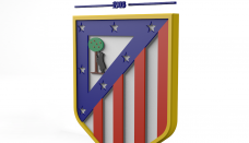 Club Atlético de Madrid Logo 3D