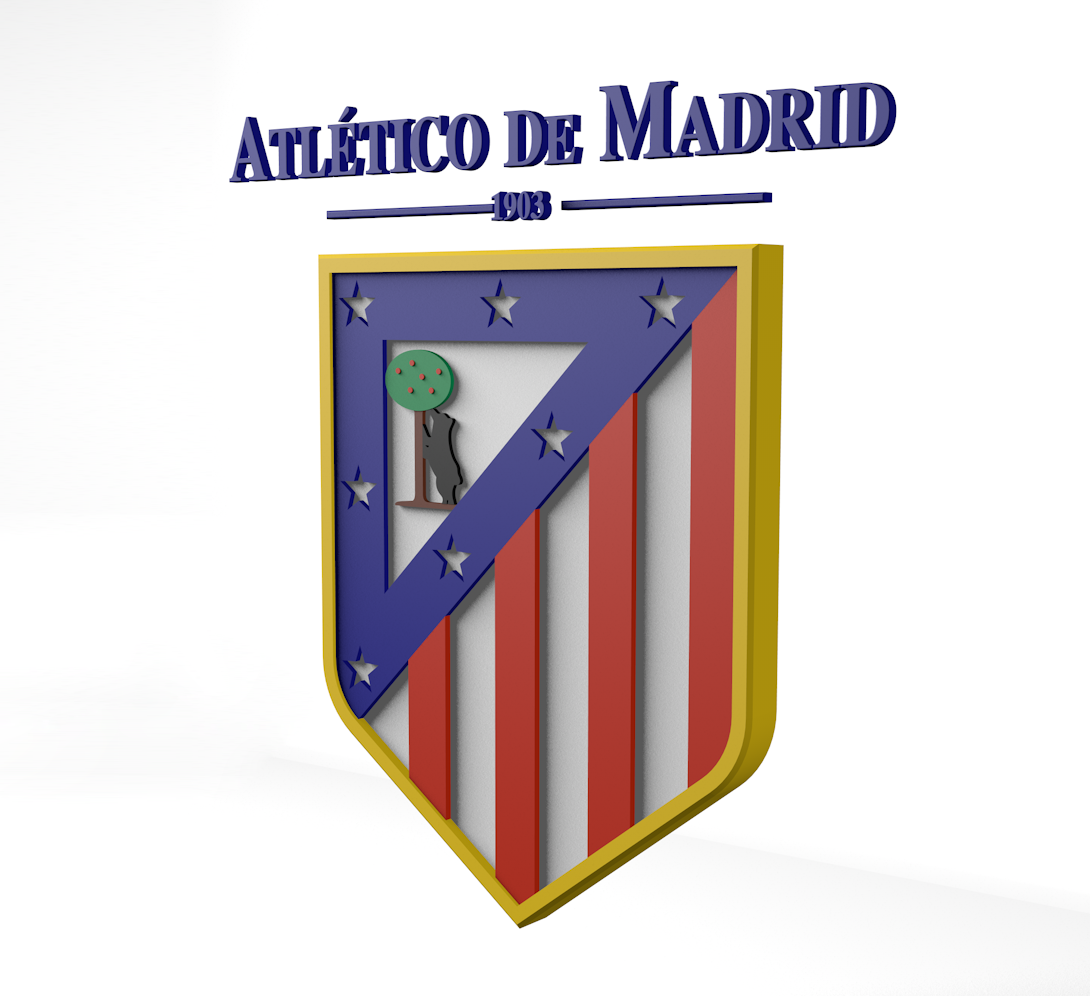 Club Atletico de Madrid Logo 3D Wallpaper