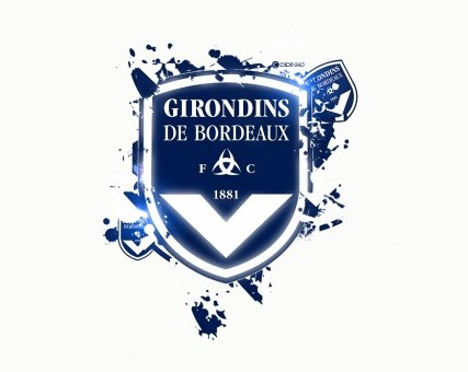 FC Girondins de Bordeaux Logo 3D Wallpaper