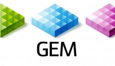 Global Electric Motorcars Logo 3D
