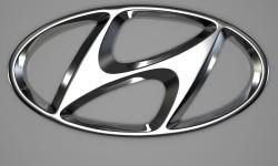 Hyundai logo 3D
