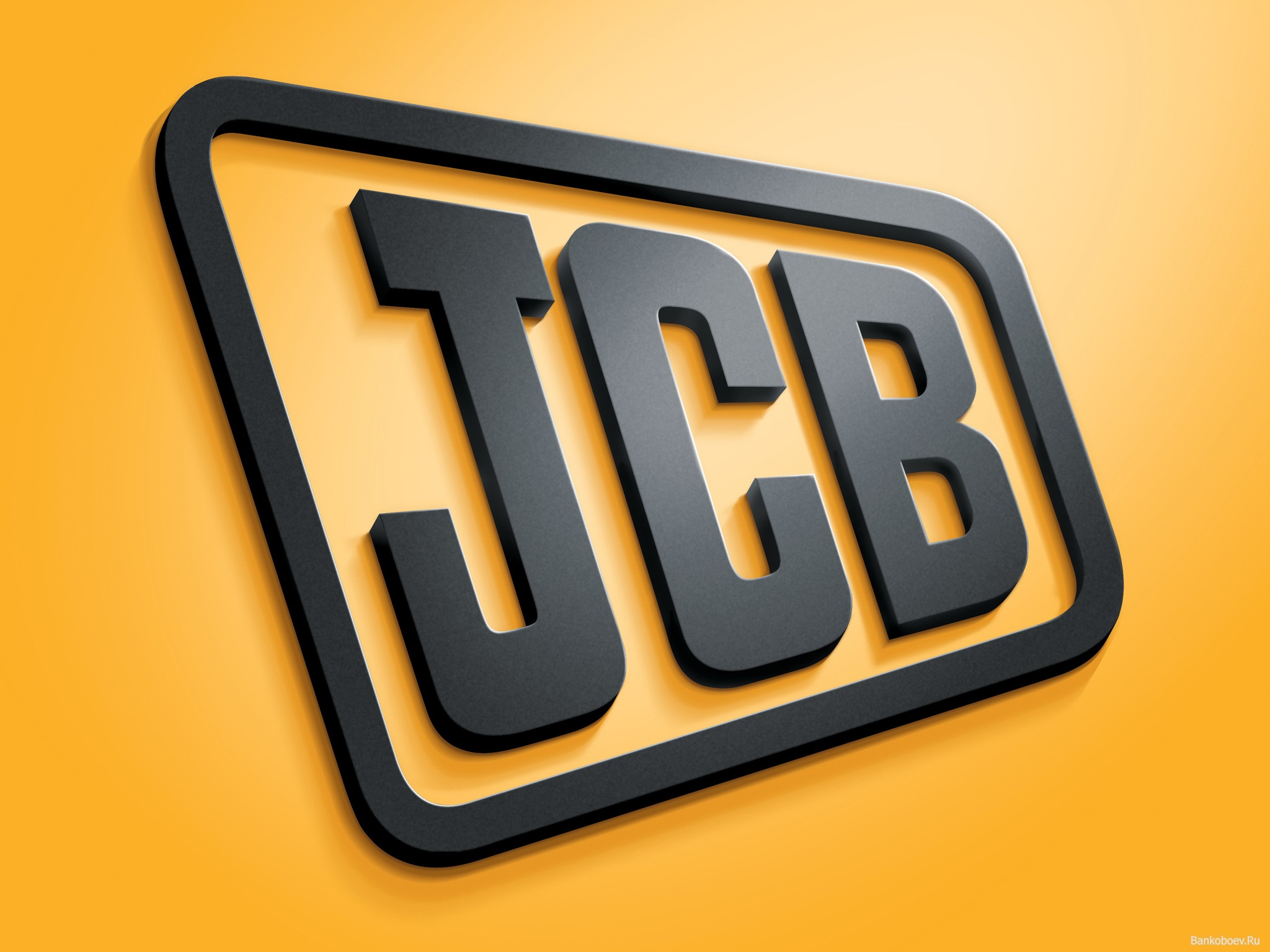 JCB Logo 3D Wallpaper