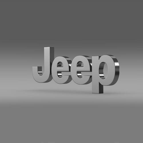 Jeep logo 3D Wallpaper