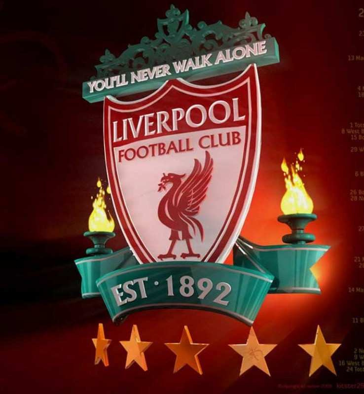 Liverpool FC Logo 3D Wallpaper