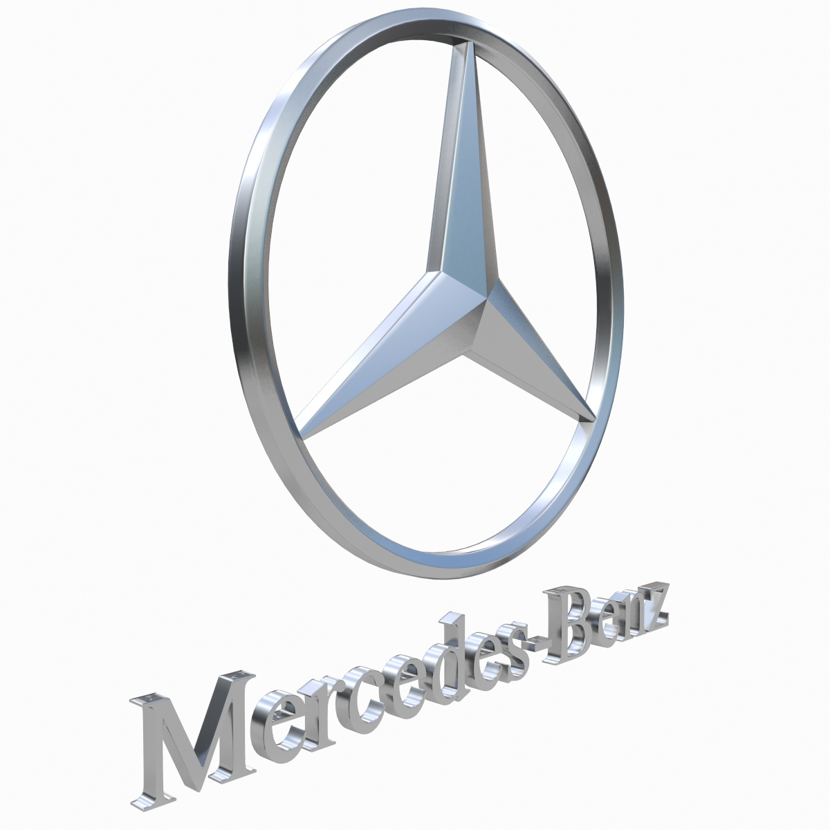 Mercedes Benz Logo 3D Wallpaper
