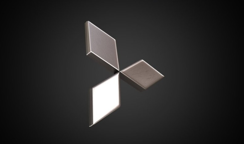 Mitsubishi logo 3D Wallpaper