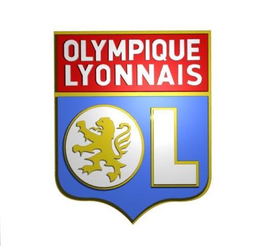 Olympique Lyonnais Logo 3D Wallpaper
