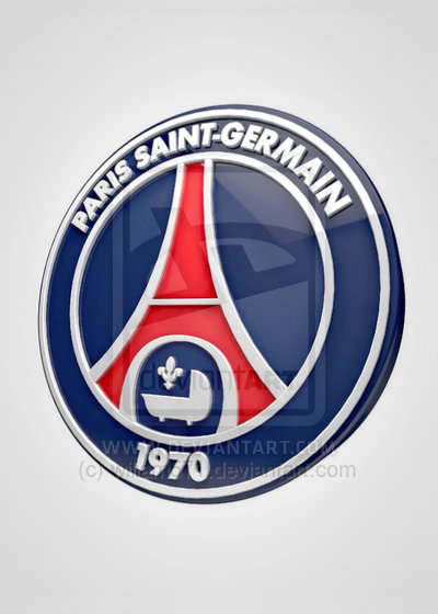 Paris Saint-Germain Logo 3D Wallpaper