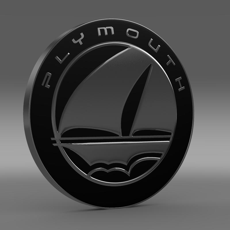 Plymouth Logo 3D Wallpaper