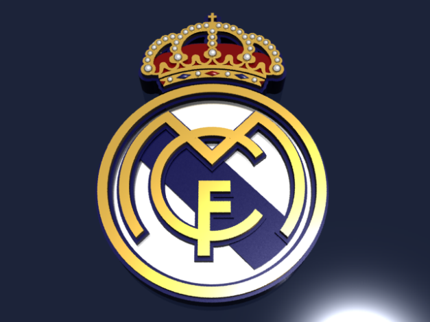 Real Madrid CF Logo 3D Wallpaper