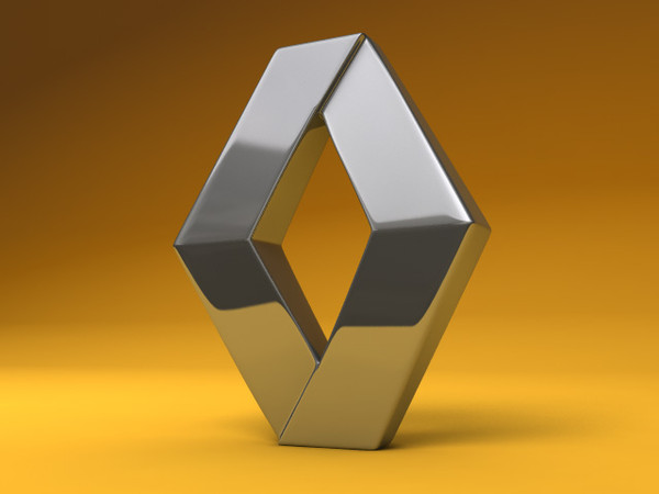Renault Logo 3D Wallpaper