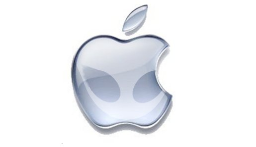 Apple alien logo Wallpaper