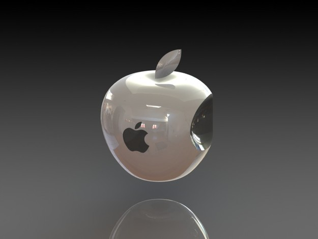 Apple logo 3D Wallpaper