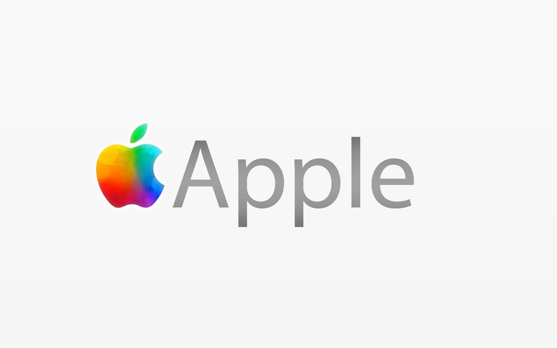 Apple logo text Wallpaper
