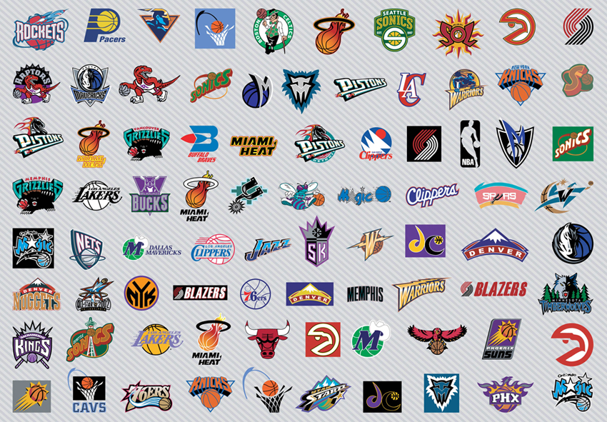 Basketball logos Wallpaper