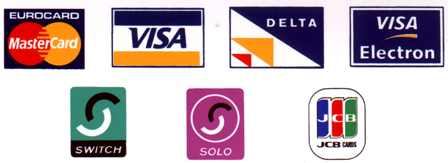 Credit card logos Wallpaper