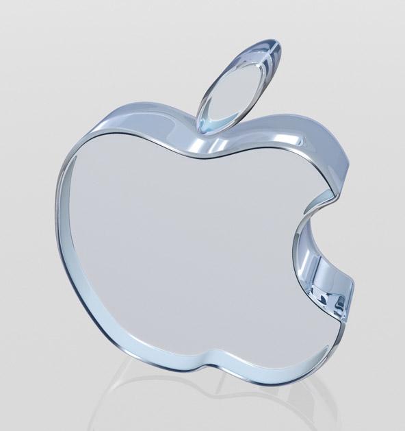 Glass Apple logo Wallpaper