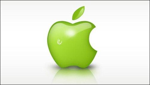 Green Apple logo Wallpaper