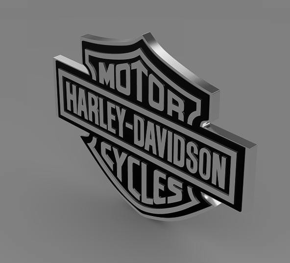 Harley logo 3D Wallpaper