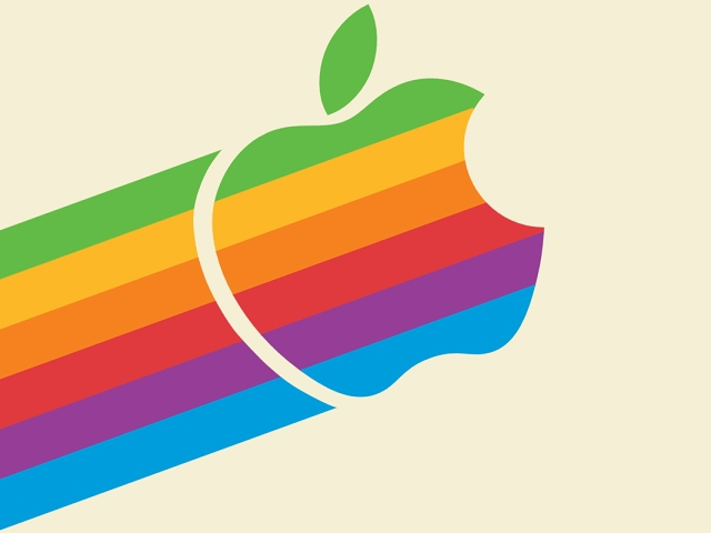 Old Apple logo Wallpaper