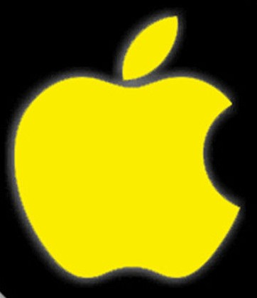 Yellow Apple logo Wallpaper