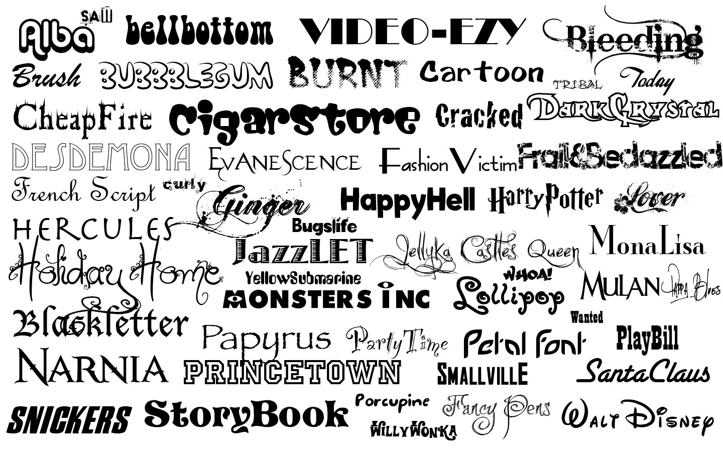 Fonts for logos Wallpaper