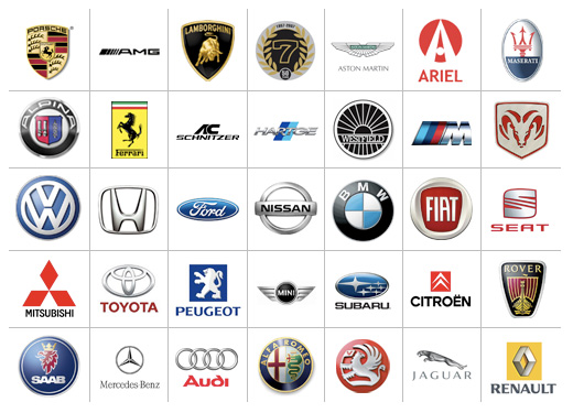 Foreign car logos Wallpaper