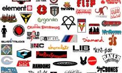 Skateboarding logos