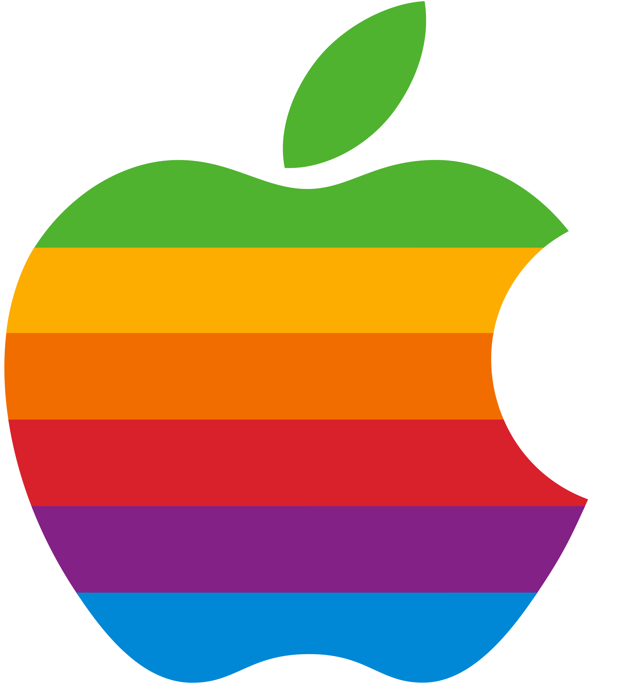 Rainbow Apple logo Wallpaper