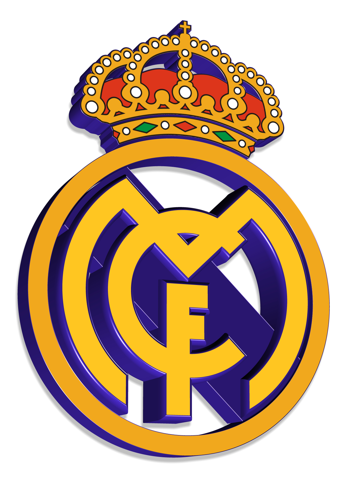 Real Madrid logo 3D Wallpaper