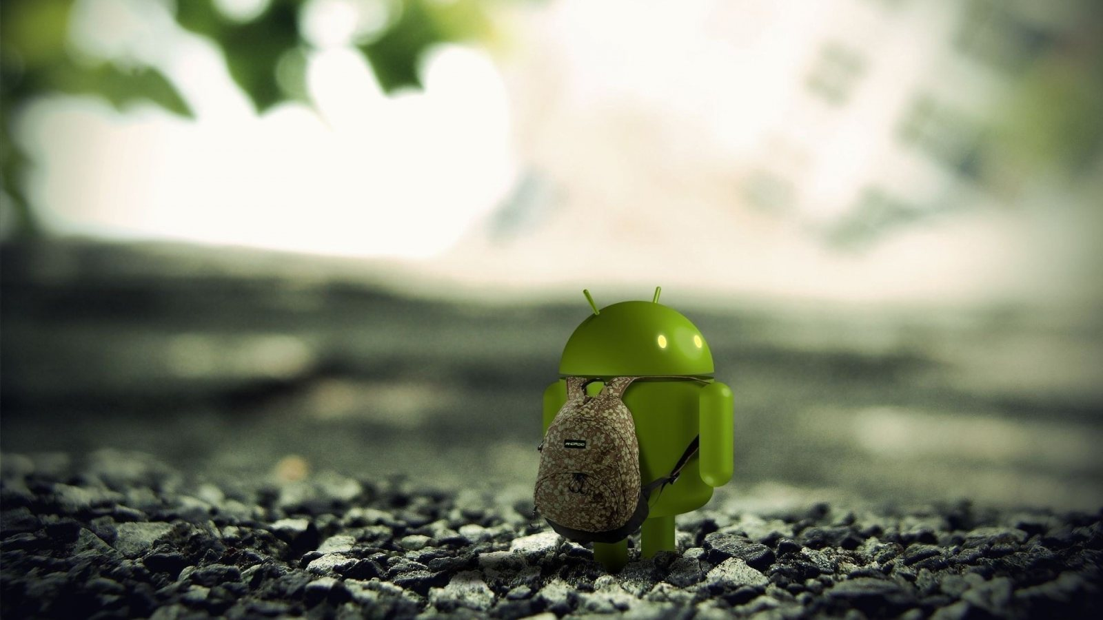 Funny Android 3D Logo Wallpaper