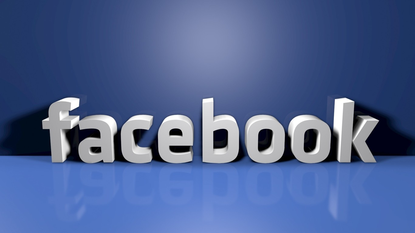 Facebook 3D Logo Wallpaper
