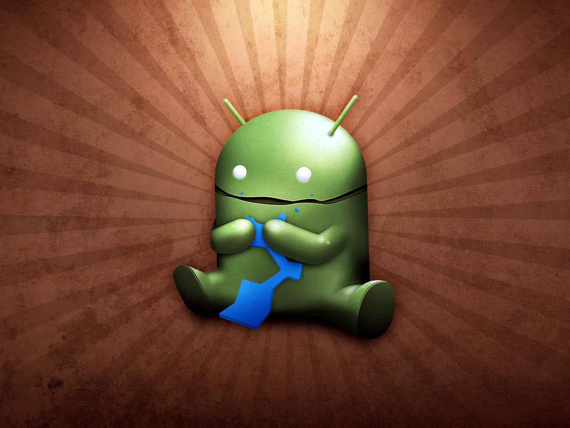 Funny Android Logo Wallpaper
