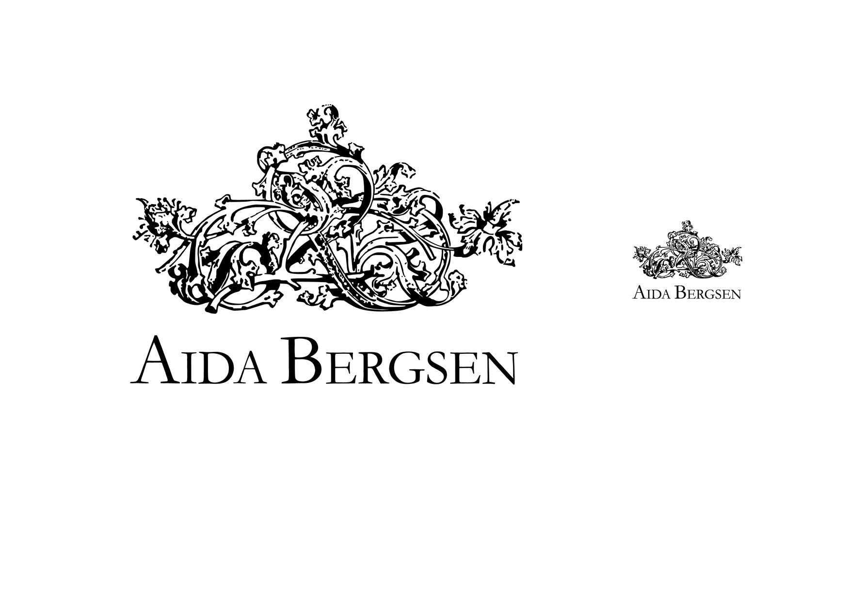 Aida Bergsen Logo Wallpaper
