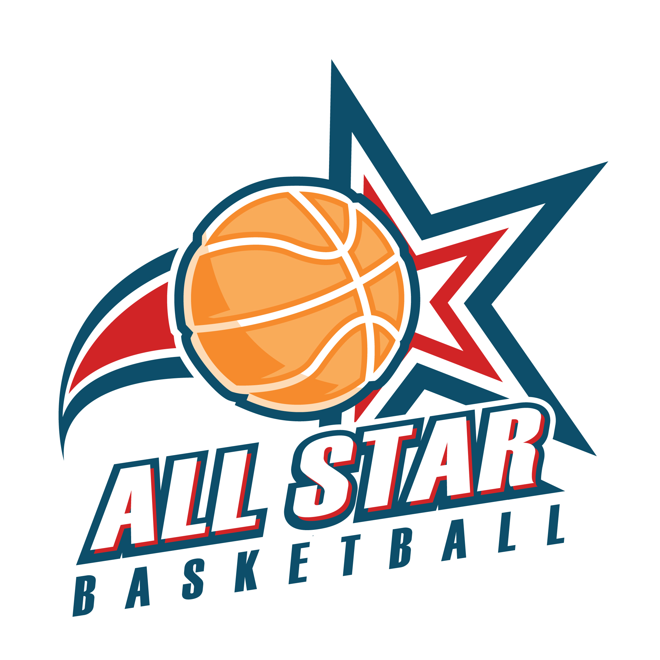 All Star Basketball Logo Wallpaper
